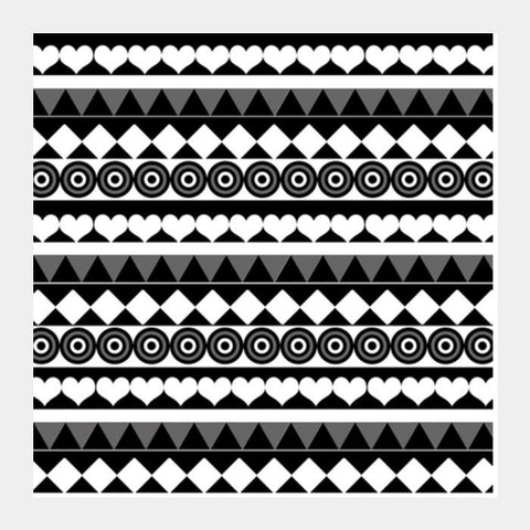 Black & White Pattern Square Art Prints PosterGully Specials