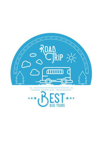 PosterGully Specials, Blue Best Bus Tours Wall Art | Artist : Designerchennai, - PosterGully