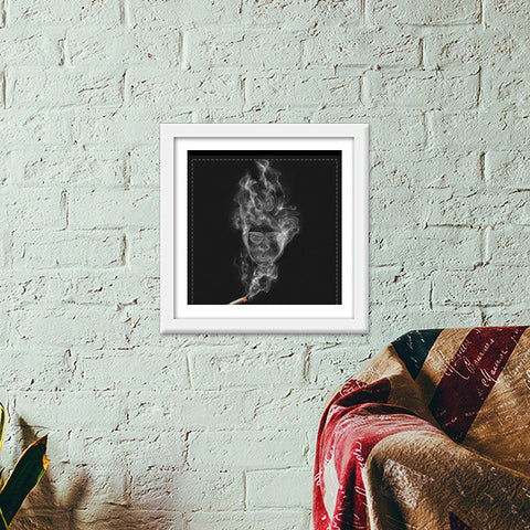 The Cigarette is Smoking You! Premium Square Italian Wooden Frames | Artist : kapil Verma
