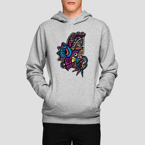 Hoodies, Abstract Zenscrawl Hoodies | Artist : Meghnanimous, - PosterGully - 1