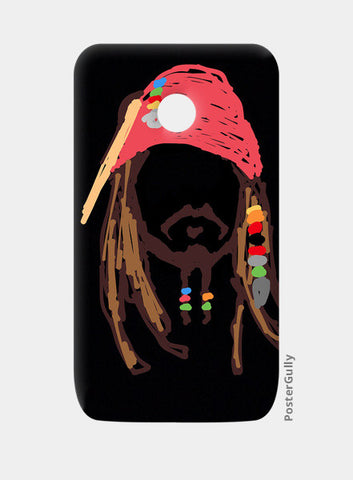 Jack Sparrow Pirates Of The Caribbean Minimal Doodle Moto E Cases | Artist : Praband