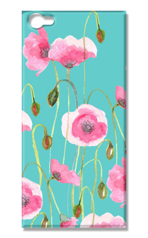 Blooming Pink Poppies Mint Floral  Vivo V5 Cases | Artist : Seema Hooda