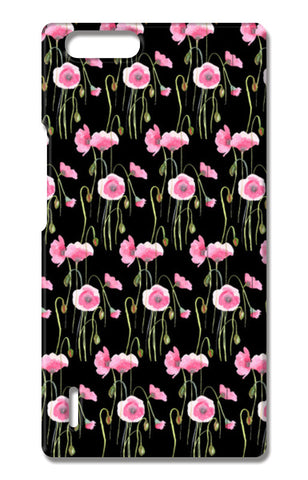 Abstract Pink Poppies Spring Floral Pattern  Huawei Honor 6X Cases | Artist : Seema Hooda