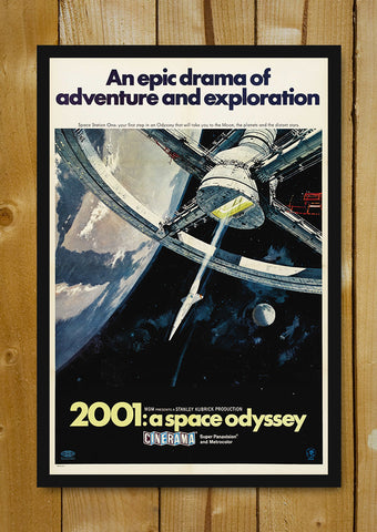 Glass Framed Posters, 2001A Space Odyssey Epic Drama Glass Framed Poster, - PosterGully - 1