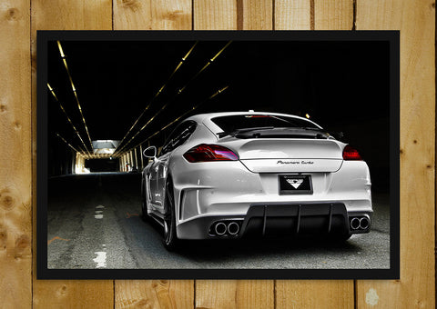 Glass Framed Posters, 2011 Porsche Panamera V-PT Glass Framed Poster, - PosterGully - 1