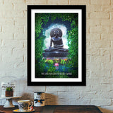 Buddha peace comes from within Premium Italian Wooden Frames | Artist : Cuboidesign