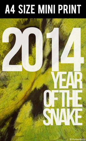Mini Prints, 2014 - Year Of Snake | Mini Print, - PosterGully
