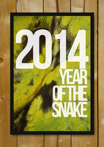 Glass Framed Posters, 2014 Year Of Snake Glass Framed Poster, - PosterGully - 1