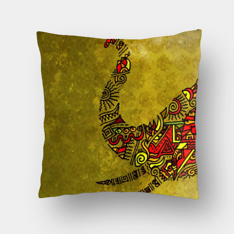 Cushion Covers, Elephant Zenscrawl Cushion Cover | Meghnanimous, - PosterGully