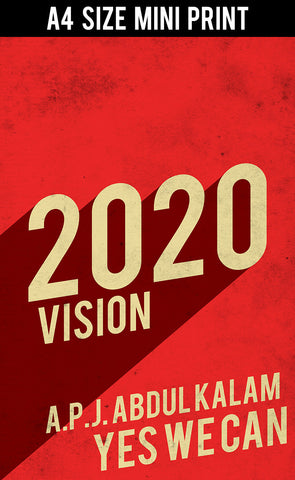 Mini Prints, 2020 Vision Kalam India | Mini Print, - PosterGully