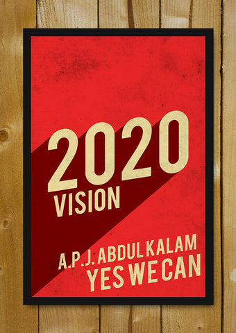 Glass Framed Posters, 2020 Vision Kalam India Glass Framed Poster, - PosterGully - 1