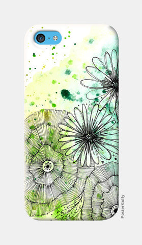 Woodland Florals iPhone 5c Cases | Artist : Swathi Kirthyvasan