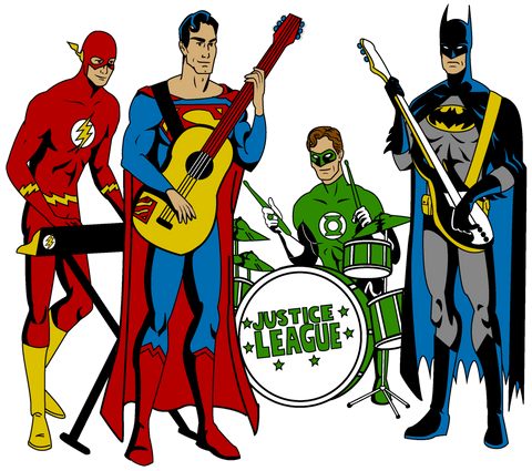 PosterGully Specials, Justice League Band, - PosterGully