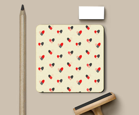 Coasters, Hearts Pattern Coasters | Artist : Tanvi C, - PosterGully
