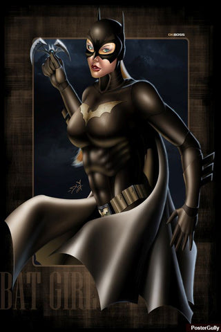 Wall Art, Bat Girl Artwork | Artist: Dk Boss, - PosterGully - 1