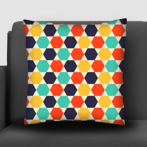 Multi colored repetition shape background Cushion Covers | Artist : Designerchennai