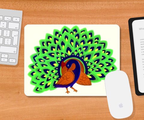 The majestic peacock Mousepad | Artist : Miraculous