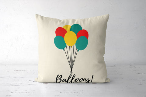 Colorful Balloons Cushion Covers | Artist : Ankita Sharma