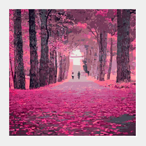 Square Art Prints, Lonely Road Square Art Prints | Artist : Delusion, - PosterGully