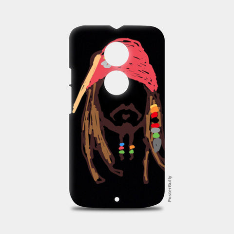 Jack Sparrow Pirates Of The Caribbean Minimal Doodle Moto X2 Cases | Artist : Praband