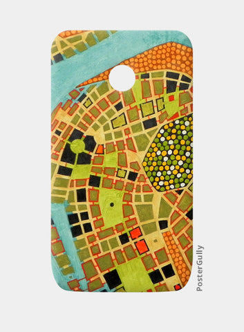 Moto E Cases, imaginary map of Koblenz Moto E Cases | Artist : federico cortese, - PosterGully
