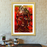 BUDDHA Buddhism teaches people that the real source of happiness is inner peace. Premium Italian Wooden Frames | Artist : amit kumar