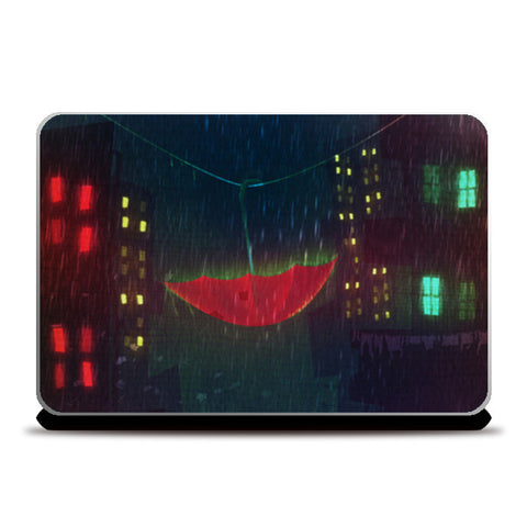Night Rain Laptop Skins | Artist : Aniket Mitra