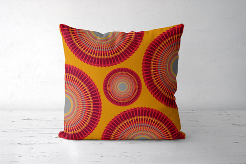 Decorative Mandala Digital Design Yellow   Cushion Covers | Artist : Seema Hooda