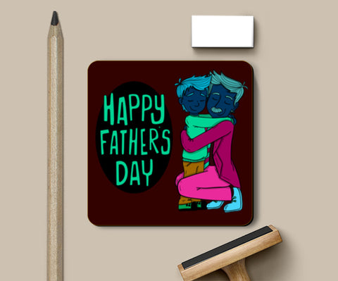 Son With Father Father's Day Coasters | Artist : Creative DJ