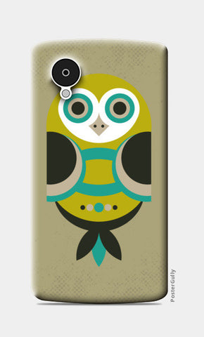 Unique geometric owl on dark Nexus 5 Cases | Artist : Designerchennai