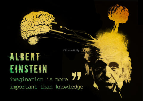 PosterGully Specials, Einstein | Imagination is more important, - PosterGully
