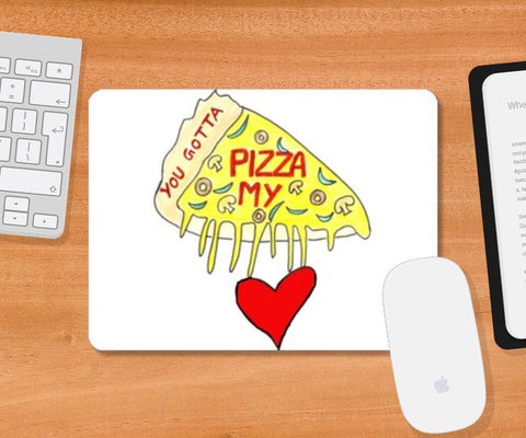 Pizza Love Mousepad | Artist : Ajooni Singh