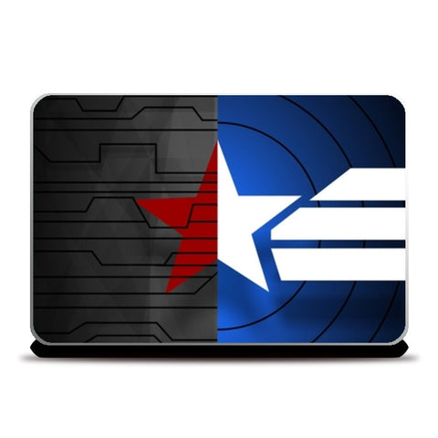Captain america Winter Soldier combined marvel Laptop Skins | Artist : Gauri Deshpande