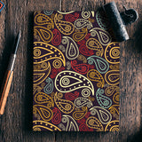 Abstract hand drawn floral illustration on multicolors Notebook | Artist : Designerchennai
