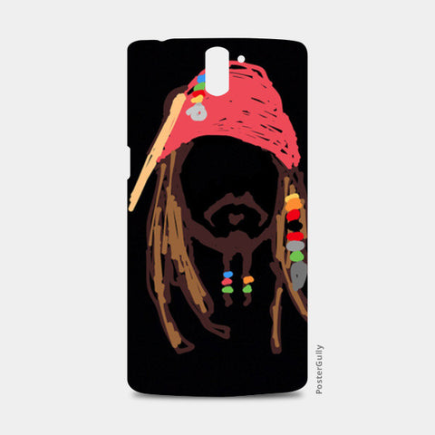 Jack Sparrow Pirates Of The Caribbean Minimal Doodle One Plus One Cases | Artist : Praband