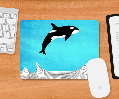 Mousepad, Fly Away Dear Whale Mousepad | Artist: Parikshit Deshmukh, - PosterGully