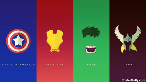 Brand New Designs, Avengers Hipster Artwork | Artist: Siladityaa Sharma, - PosterGully - 1