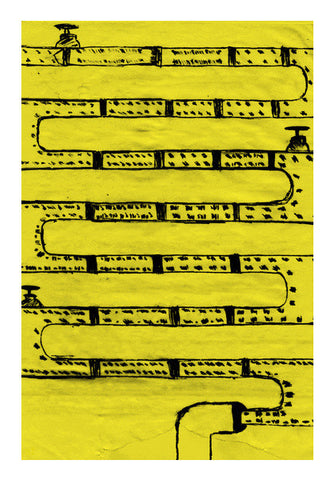 Pipeline Yellow Art PosterGully Specials