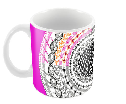 Colourful Geometric Mandala Coffee Mugs | Artist : Amulya Jayapal