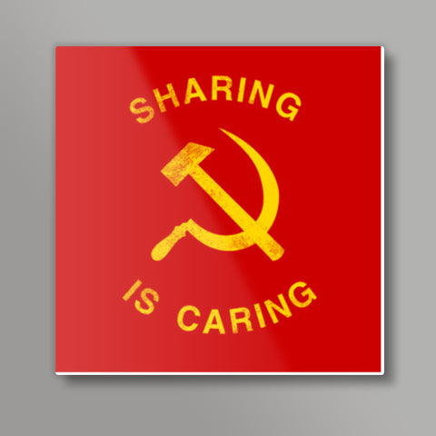 sharing is caring Square Metal Prints | Artist : Scatterred Partikles