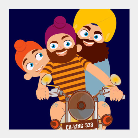Square Art Prints, punjabi Square Art Prints | Artist : abhijeet sinha, - PosterGully