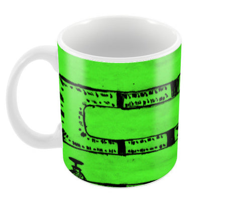 Pipeline Green Coffee Mugs | Artist : prat