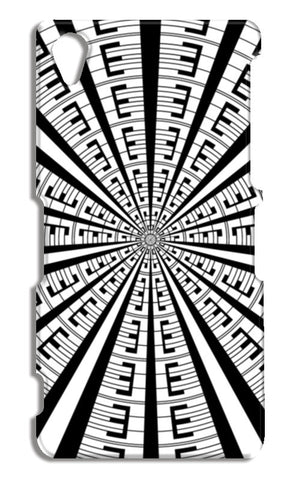 Abstract Modern Art Geometric Black White Pattern Sony Xperia Z2 Cases | Artist : Seema Hooda