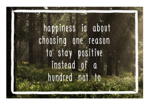 Happiness Motivational Poster Wall Art  | Artist : Tushar Gupta