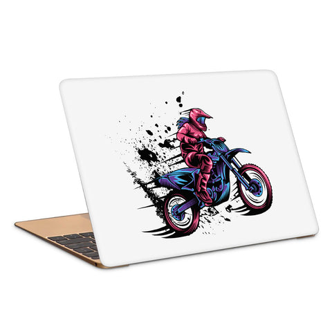 Motocross Splash Speed Laptop Skin