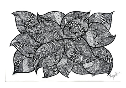 Wall Art, Leafy Tangles Wall Art  | Artist : Eggoticons, - PosterGully