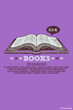 Wall Art, Books Purple | By Captain Kyso, - PosterGully - 1