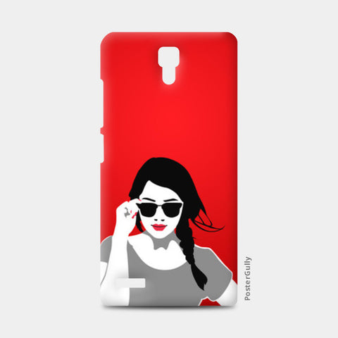 Redmi Note Cases, Girl in Red Vector Illustration Redmi Note Cases | Artist : Sukhmeet Singh, - PosterGully