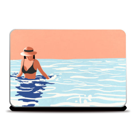 Smell the sea, feel the breeze, hear the ocean, be at ease. Laptop Skins | Artist : devika art