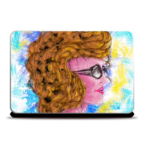 RADIANCE | beauty | girl | summer | colorful | woman | people | painting | sketches Laptop Skins | Artist : Jessica Maria